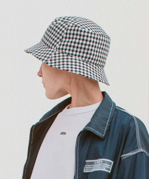 61e0bc10570 Jieda(ジエダ)の「JieDa ジエダ   GINGHAM BUCKET HAT   Jie-19S-GD03 ...