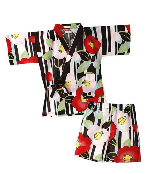 레트로 모던 일본 무늬 진베이(여름에 입는 남자 덧옷) JUNIOR