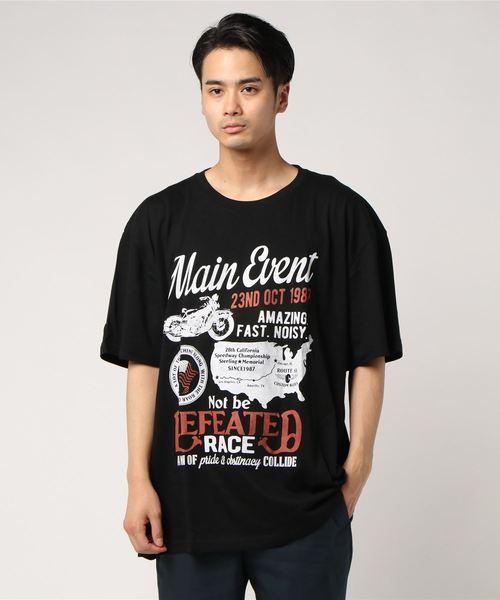 ff257ae8f5f7a しまむら(シマムラ)の「 大きいサイズ プリント半袖Tシャツ2枚セット(ZOZOTOWN限定)(Tシャツ・カットソー)」 - WEAR