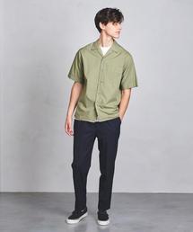 UAST ソリッド オープンカラー シャツ