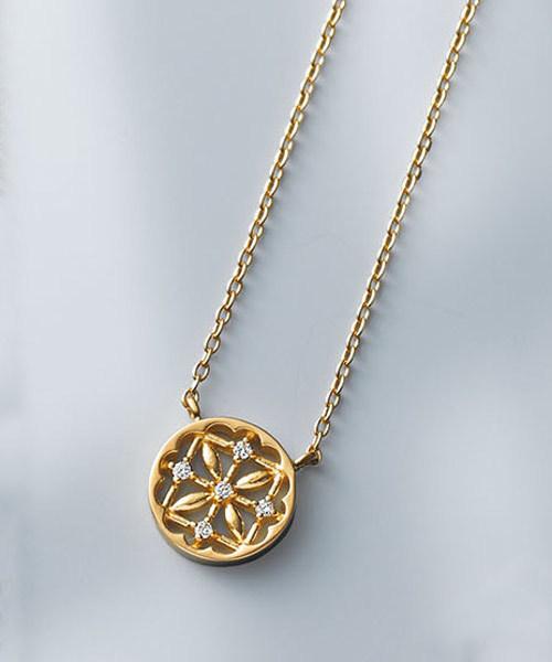 f0c5d561b7 ete bijoux(エテビジュー)の「K18YG ダイヤモンド ネックレス「ラティス」(ネックレス)」 - WEAR