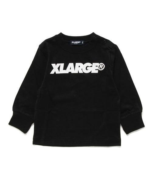 26741536f8171 XLARGE KIDS(エクストララージキッズ)の「スタンダードロゴ長袖Tシャツ(Tシャツ・カットソー)」 - WEAR
