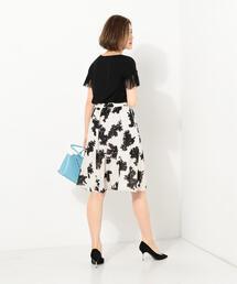 ●JOC PE シャドーフラワー プリント スカート / 花柄
