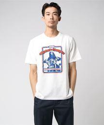MOTORCYCLE GIRLプリントTシャツ