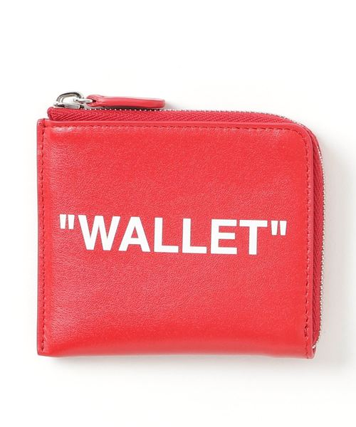 huge selection of a7d7c 6fae3 off white(オフホワイト)の「【OFF WHITE】QUOTE ZIP WALLET ...