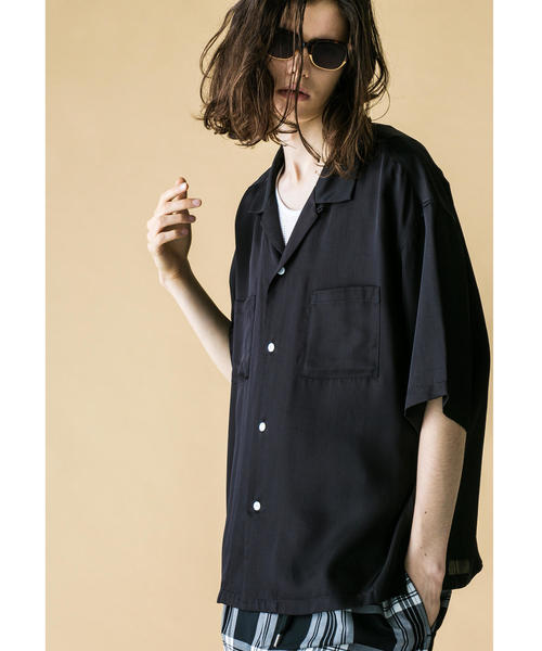 <monkey time> RAYON TWILL OPEN SHIRT/シャツ