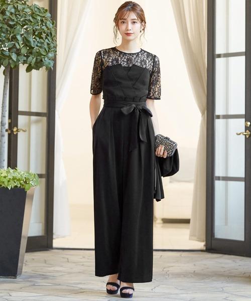 ba91e9a242cd1 GIRL(ガール)の「レースブラウス ベアトップジャンプスーツのセットアップ結婚式パンツドレス・お呼ばれパーティードレス(ドレス)」 - WEAR