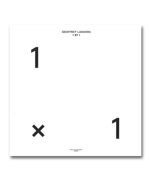 【LP】Geoffrey Landers / 1 BY 1 <Music From Memory>