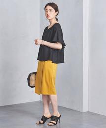 ○UBCS ステッチ ラップタイトスカート