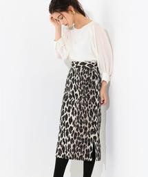 SMF レオパードサイドスリットスカート