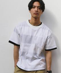 SC ★★CLOTH×ボーダー レイヤードTシャツ / 2枚組み ◆