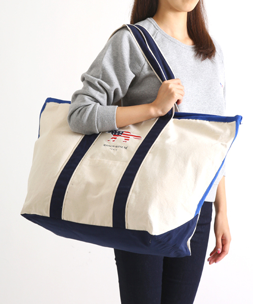 Maison Kitsune メゾンキツネ Richelieu Tote Bag Xl Kux8753 Ann Wear