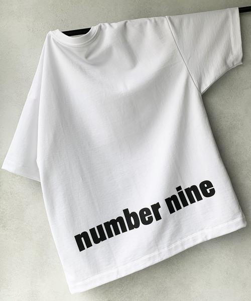【NUMBER (N)INE】 별주품 콤팩트 프리미어 라이트 스웨트 빅 실루엣 백 프린트 T셔츠