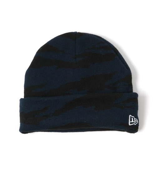 size 40 c8999 0f6ba ONSPOTZ(オンスポッツ)の「NEWERA KIDS KNIT CAP BASIC CUFF TIGER STRIPE CAMO  NAVY(ニットキャップ・ビーニー)」 - WEAR