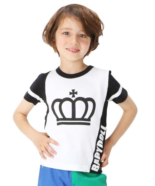 24f01ee930093 BABYDOLL(ベビードール)の「通販限定☆斜め切替Tシャツ9627K(Tシャツ・カットソー)」 - WEAR