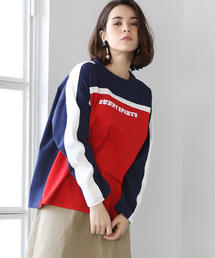 SUNNY SPORTS(サニースポーツ)別注バイカラープリントロングTシャツ(ロンT/プルオーバー)