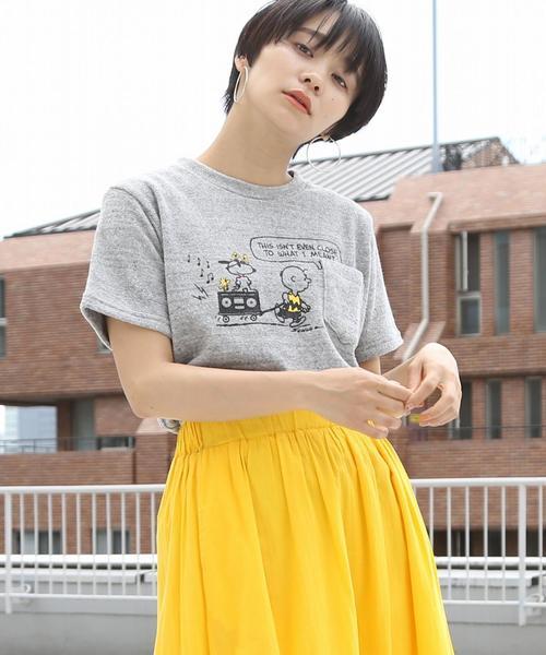 【女性にも人気】(SNOOPY/スヌーピー)パイルサーフTシャツ(グレー系その他,ブルー系その他⇒WEB限定カラー)