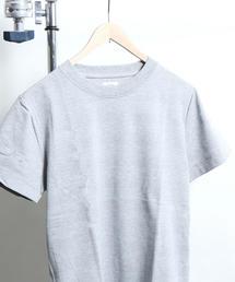 ポップコーンソリッドボーダークルーネックTシャツ