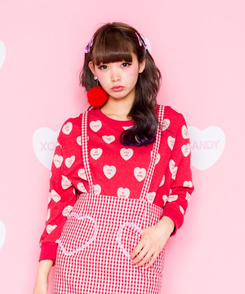 candy stripper キャンディストリッパー の be my baby sweat tops