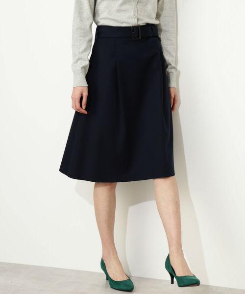 44ce7867b2f6a NATURAL BEAUTY BASIC(ナチュラルビューティベーシック)の「◇ベルテッドフレアスカート(スカート)」 - WEAR
