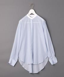 <6(ROKU)>STRIPE BIG SHIRT/シャツ