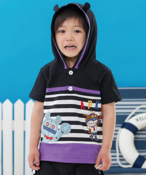 9f1d14849c7dd6 ANPANMAN KIDS COLLECTION(アンパンマンキッズコレクション)の「【アンパンマン】ばいきんまんマリンTシャツ(Tシャツ・カットソー)」  - WEAR