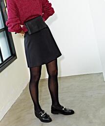 CS ダブルクロス ポケット台形ミニスカート