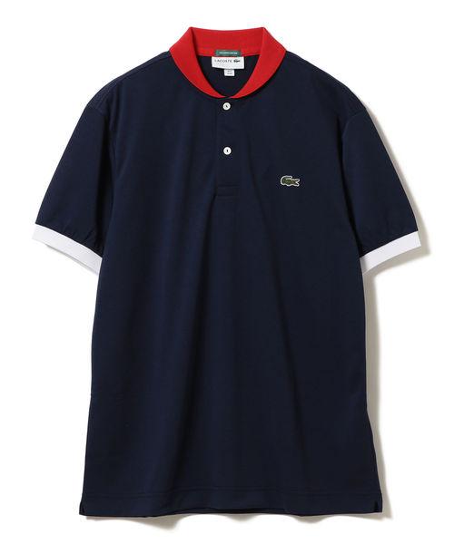 LACOSTE×BEAMS GOLF / 별주품 숄 컬러 트리코 폴로 셔츠