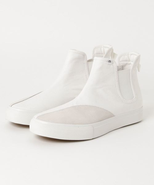 796a99d908 around the shoes(アラウンドザシューズ)の「CLEAR WEATHER (クリア ウェザー)JEFFREY(白・黒)(スニーカー)」  - WEAR