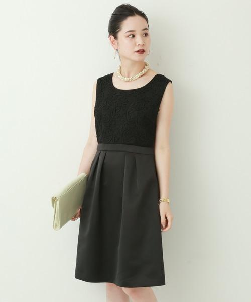acd6ad1fececf MARLENE JOBERT(マルレーヌ ジョベル)の「結婚式・セレモニー使用OK 大人女子のコードレーン胸刺繍ドレス(ドレス)」 - WEAR