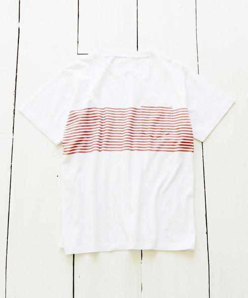 パネルプリントボーダーTシャツ
