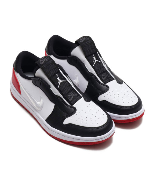 나이키 스니커즈 NIKE 나이키 WMNS AIR JORDAN 1 RET LOW SLIP (WHITE/WHITE-GYM RED-BLACK) 【SP】