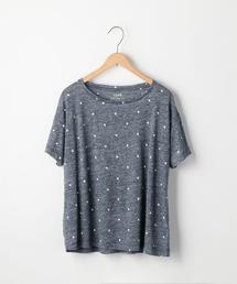フレンチリネンドットプリントTシャツ