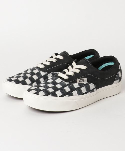 VANS COMFYCUSH ERA LX 콘 fee《굿슈에라》LX VN0A45JYVNP (HAIRY SUEDE/NUBUCK) BLACK/OATMEAL/CHECKERBOARD