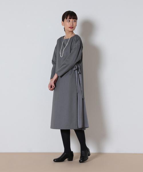 2540214d82cbd conges payes ADIEU TRISTESSE(コンジェ ペイエ アデュートリステス)の「TRギャバサイドフレアーワンピ(ドレス)」 -  WEAR