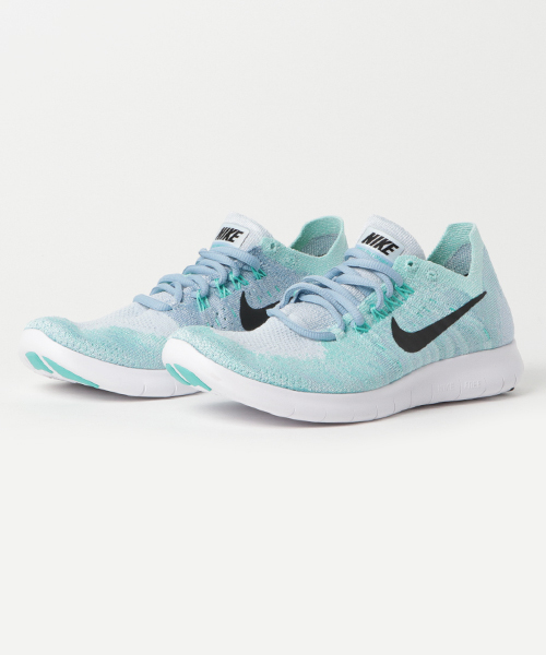 new product 68a86 d58a8 NIKE(ナイキ)の「NIKE ナイキ WMNS NIKE FREE RN FLYKNIT 2017 ウィメンズ ナイキ フリー ラン フライニット 2017  880844-402 402BLUE TINT BLACK-CIRRUS ...