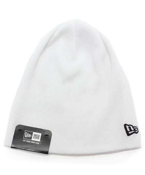 new style 6e12f 12aab ONSPOTZ(オンスポッツ)の「NEWERA KNIT CAP BASIC BEANIE COTTON BLEND  WHITE(ニットキャップ・ビーニー)」 - WEAR
