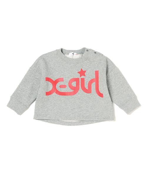 310dc708aa8da X-girl Stages(エックスガールステージス)の「ロゴ×ワイド袖トレーナー(スウェット)」 - WEAR