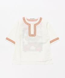 BEAR DREAM刺繍 七分袖プルオーバーシャツ