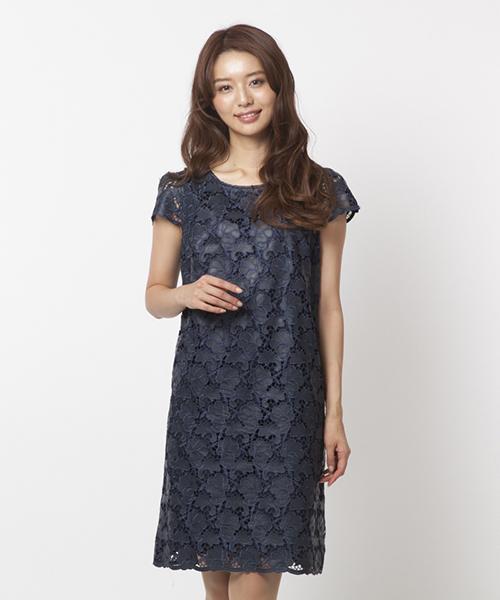 bef43334373a2 Rose Tiara(ローズティアラ)の「 Rose TiaraJewel フラワー刺繍レザーワンピース(ドレス)」 - WEAR
