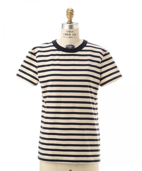 <MAISON CORNICHON(メゾン・コルニション)>ストライプ Tシャツ