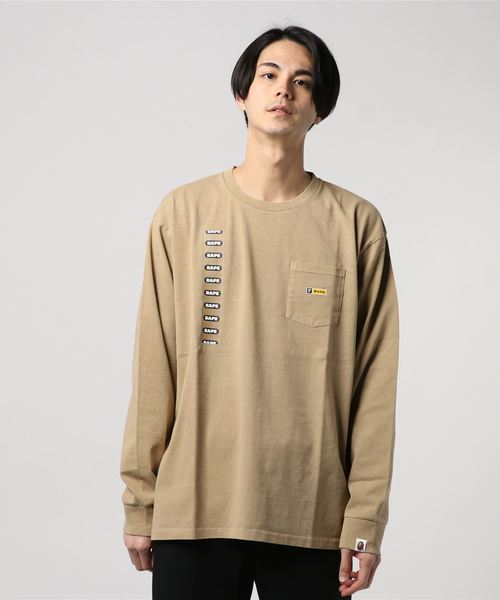 9a00cc5c2 A BATHING APE(アベイシングエイプ)の「RELAXED POCKET L/S TEE M(Tシャツ・カットソー)」 - WEAR
