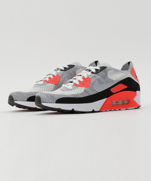 quality design 6d6cc c5e77 NIKE(ナイキ)の「NIKE AIR MAX 90 ULTRA 2.0 FLYKNIT (WHITE WOLF GREY-BRT CRIMSON- BLACK-PURE PLATINUM) (17SP)  SP (スニーカー)」 - WEAR