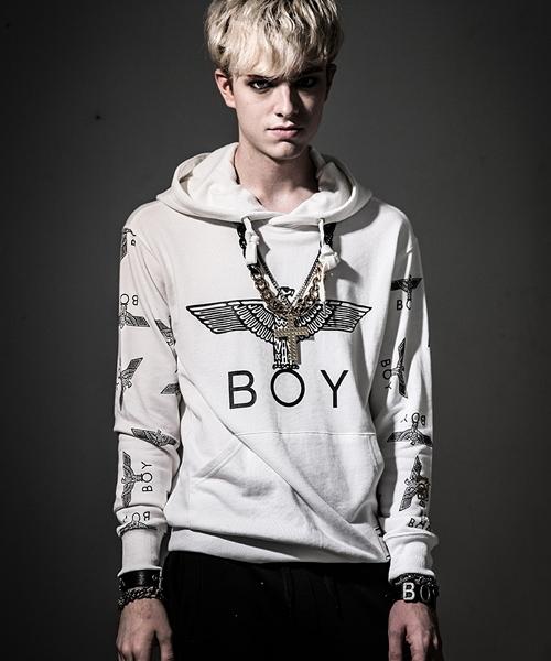 d35fa412c0bf BOY LONDON(ボーイロンドン)の「BOY LONDON/ボーイロンドン スウェット/パーカー(SLEEVE EAGLE HOODED  SWEAT)(パーカー)」 - WEAR