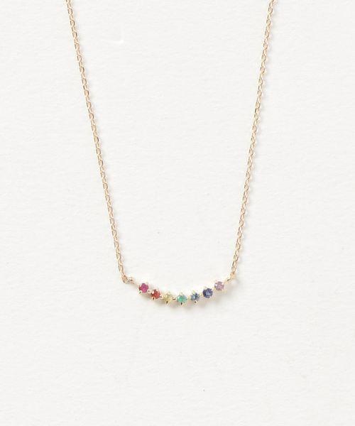 b81a80a382 ete bijoux(エテビジュー)の「K18YG ナチュラルストーン ネックレス「フォーチュン」(ネックレス)」 - WEAR