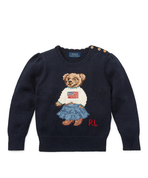 3de3a45efe02d Polo Ralph Lauren Childrenswear(ポロ キッズ)の「Polo ベア コットン セーター(ニット・セーター)」 - WEAR