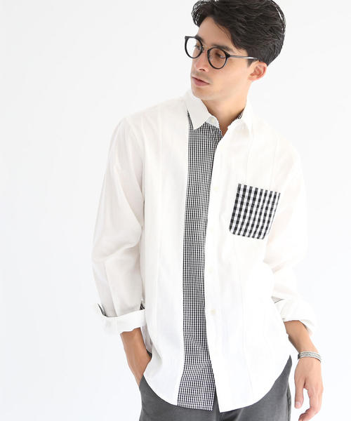 クレイジーパッチワークシャツ