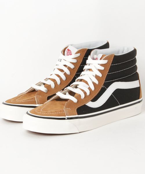87199d3c9e5 VANS(バンズ)の「VANS ヴァンズ UA SK8-HI 38 DX スケートハイ38DX VN0A38GFUQ2 (ANAHEIM FACTORY)  OG HART BROWN OG BLACK(スニーカー)」 - WEAR