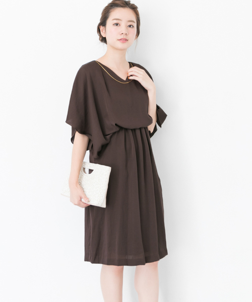 be338a0fe7f8d URBAN RESEARCH(アーバンリサーチ)の「COUTURE MAISON フロントドレープネックレス付ケープドレス(ドレス)」 - WEAR
