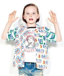 クレイジーパターン半袖オープンカラーシャツ